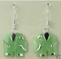 Fancy Jewelry jade elephant earrings
