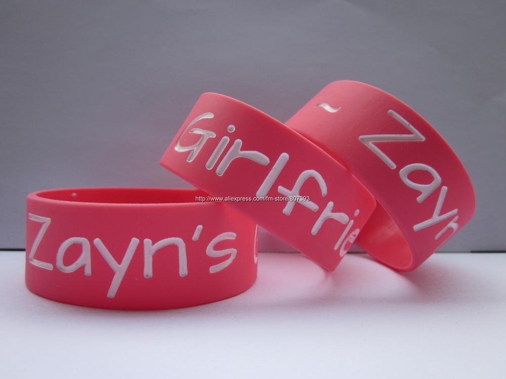 ZAYN'S GIRLFRIEND Wristband One Direction Merchandise Bracelet Zayn Malik Fans,silicon wristband,50pcs/lot,freeshipping(China (Mainland))