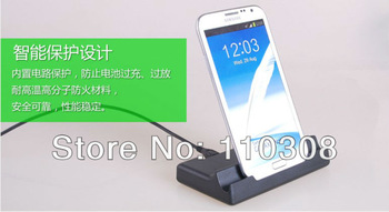 USB Sync Cradle Dock For Samsung Galaxy Note 2 N7100 with 2nd Battery Slot,High quality,Freeshipping