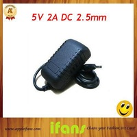 5V 2A DC 2.5mm Europe/US Plug Converter Charger Power Supply Adapter For Tablet PC/MID