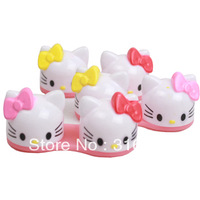 6pcs/lot Hello Kitty 3D Contact Lens Case, Cartoon Glasses box wholesale