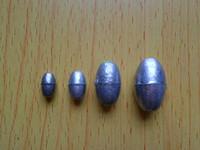 Olive shaped lead sinker 6 8 20 lure lead