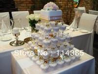 5 tier square acrylic cupcake stand, 5 tier square wedding cupcake stand, 5 tier perspex cake stand