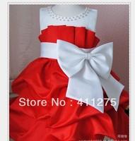 new free shipping 4pcs/1lot girls clothing  fasional Princess dress girls  dress  dresses red pink  DLH