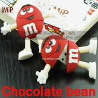 2G 4G 8G 16G 32G cartoon flash drive chocolate bean pen drive usb flash drive Free shipping