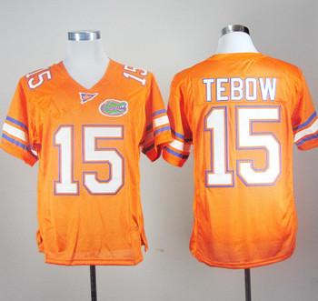 Free Shipping NCAA Colleage Football Jerseys Florida Gators Tim Tebow 15 Orange College Football Jersey