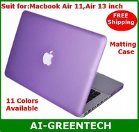 "Matte Case For Macbook Air 11"",Air 13""   hard Protective Case cover PC case 11 colors available Free Shipping"