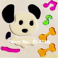 Free shipping Cartoon dog window jelly sticker