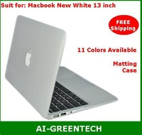 Matting Case For macbook New White 13 matte PC hard Protective Case cover macbook new white 11 colors available Free Shipping