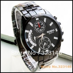 Free shipping! New watch luxury watces Japan movement steel band quartz crystal watch(China (Mainland))