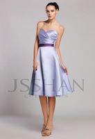 12B025 Strapless Sweetheart Ruched Tunic A-Line Matte Satin Elegant Gorgeous Luxury Bridesmaid Dress Bridesmaid Prom Dress