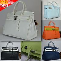 Star series bags women's handbag platinum totes handbag Middle litchi silver lock buckle1