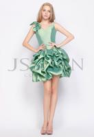 12C028 Straps Ruched Bowknot Ball Gown Taffeta Clubwear Elegant Unique Gorgeous Luxury Party Cocktail Dress Party Dress