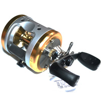 Free shipping, 3505/3510/3530 full aluminum alloy drum reel, lure fishing,bait casting