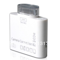 newest 5pcs Mini 5 in 1 Card Reader USB Camera Connection Kit For iPad 2 ipad3 White color multifunction free by  CN