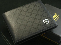 Free shipping2012 new stylish Men wallet+ genuine cow Leather +mens coin purse,black color,dropshipping,wholesale  MSW11
