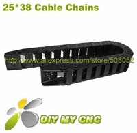 Free Shipping for 25X38 Drag Chain - Cable Carrier 25*38mm 1000mmplastic cable chain with End Connectors
