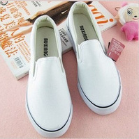 canvas shoes for man and woman lovers design Hand-painted solid white shoes #X003
