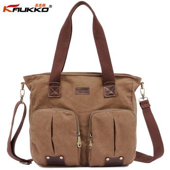 KAUKKO FJ30 Fashion All-match women handbag shoulder bag female messenger bag 100% cotton canvas retail and wholesale