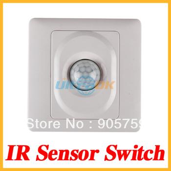 IR Infrared Motion Sensor Automatic Light Lamp Switch 180V - 250VAC White