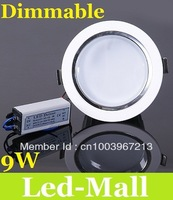 9W Dimmable Led Down Light Recessed Lights 850 LM High Brightness Cool/Warm White Led Downlight Lamp 110-240V