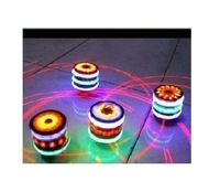 12PC  New Free Shipping  Laser gyro colorful flash music gyro luminous toy supply of goods wholesale