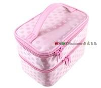 pattern handbag cosmetic bag double layer folding bags