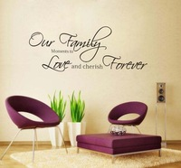 Fashion Our Family Moments Removable Vinyl Wall Poet Art Word Sticker DIYdrawing room Wall Decal Quote home Decoration Korean