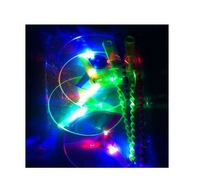 Hot  Free Shipping New flash flying saucer luminous bamboo dragonfly LED flying wheel 100PC