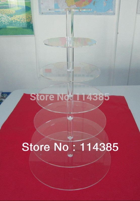 7 tier round clear acrylic cupcake stand, 7 tier wedding & party cake stand, 7 tier perspex cupcake stand(China (Mainland))