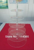 7 tier round clear acrylic cupcake stand, 7 tier wedding & party cake stand, 7 tier perspex cupcake stand