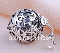 925 sterling silver Jewelry Pendant H9-a3, Women's Charm white  Harmony ball and Copper silver plated Cage Jewelry Pendant