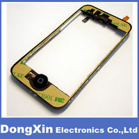 50PCS X LCD Digitizer Middle Chassis Bezel Frame with Proximity Sensor,Earpiece for iPhone 3GS,High Quality