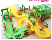 Factory direct sale blocks puzzle/creative optional combination/assembly rail train/educational toys
