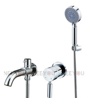 2013 NEW design Wall-mounted basin faucet with hand shower  sink tap