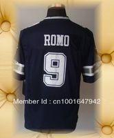 Brand New Dallas Football Jerseys 9 Tony Romo Dark Blue 2012 Game Jerseys