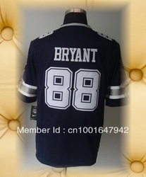 Brand New Dallas Football Jerseys 88 Dez Bryant Dark Blue 2012 Game Jerseys(China (Mainland))