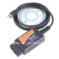 OBD2 II Car Diagnostic Tool Auto Scan Tool ELM327 USB , ELM327 V1.5 USB Diagnostic Scanner Auto Scanner FreeShipping!
