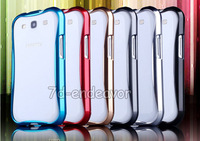 Luxury Slim Aluminum Metal Case Frame Bumper For Samsung Galaxy S3 i9300 Wholesale 6 Colors Free DHL 50pcs/lot Factory Price