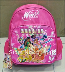 New Winx Club Backpack Child School Bag #168 Wholesale And Retail(China (Mainland))