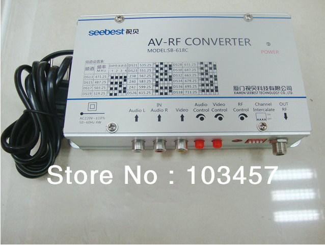 Free shipping, SB-618C, Audio & video frequency agility modulator converter, AV-RF converter(China (Mainland))