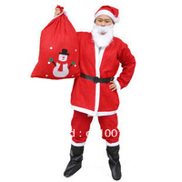 Santa of Men and women weared suit Santa Christmas Costume Christmas set