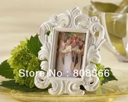 Free shipping 9pcs/lot White Baroque Place Card Holder wedding favors Use as Photo frame as well Factory directly sale(China (Mainland))