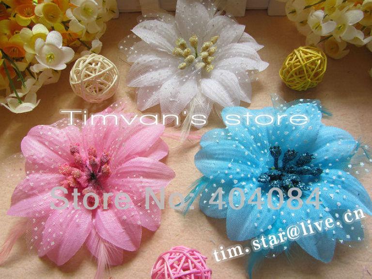8Colors 4-дюймовый моды Корея ткань цветок