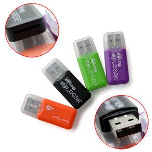 Usb card reader adapter TF MicroSD Transflash TF card reader free drive(China (Mainland))