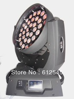 6pcs free Shipping to USA/Japan,Italy 36x10W RGBW 4IN1  LED Stage Light ,touch screen  zoom LED moving head light