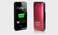 New backup 1450mAh  battery leather&cover case for iphone 4/4s