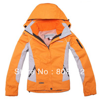 The real thing of female money waterproof outdoor wind breathable warm twinset charge clothing mountaineering wear ski clothes