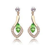 18kgp gold plated Austrian crystal earrings for women/children 2013 Christmas cheap drop earring for sale long jewelry 5745