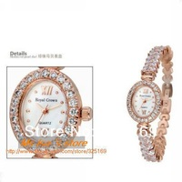 The best optional for token love Royal crown 1516B17 elegant jewelry watch framed with diamond rose gold plated free shipping